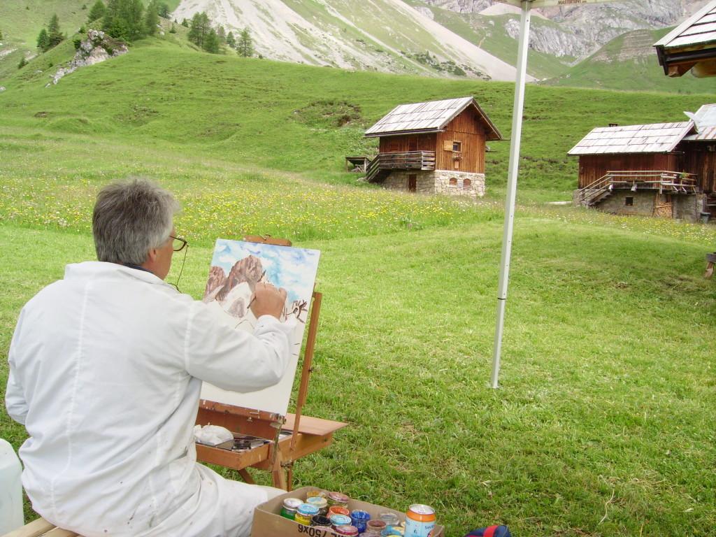 """'Art sa Mont"""" estemporanea presso rifugio Fuciade - luglio 2006"""